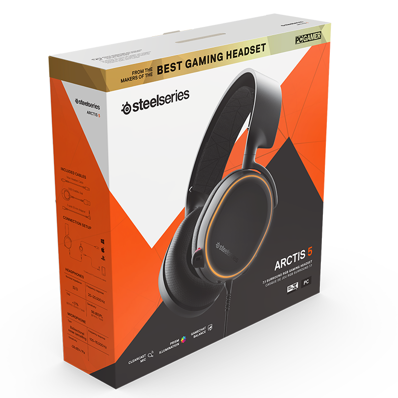 SteelSeries Arctis 5 Black 2019 Edition - фото 6