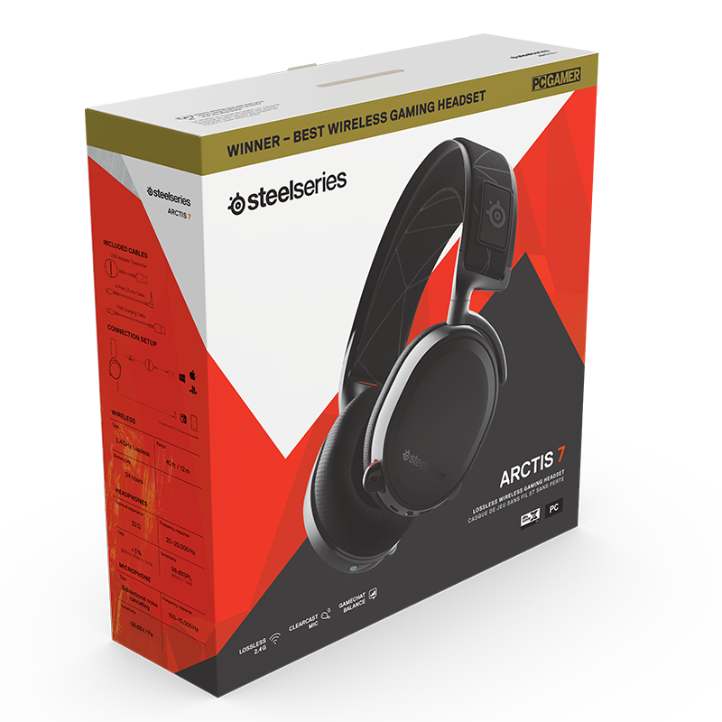 SteelSeries Arctis 7 Black 2019 Edition - фото 4